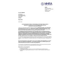MHRA证书